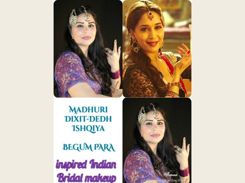 dedh ishqiya madhuri inspired make up
