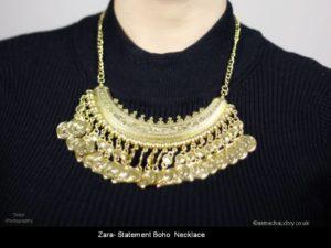 Zara Boho Gold Bronze Coin Necklace