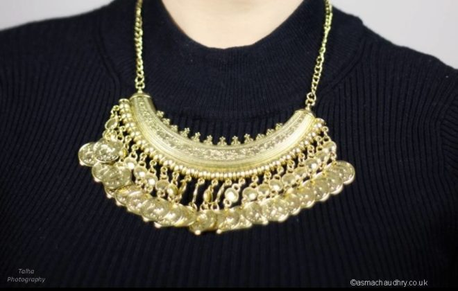 Zara Boho Gold Bronze Coin Necklace