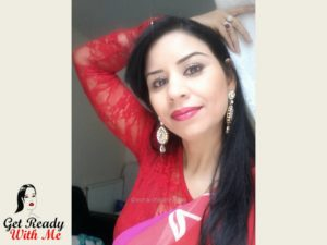 Get Ready With Me:Peach and Red Indian Make up | Asmaa Chaudhry