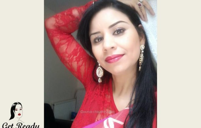 Get Ready With Me:Peach and Red Indian Make up   Asmaa Chaudhry